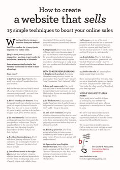 How to create a website that sells, 15 simple techniques to boost your online sales
