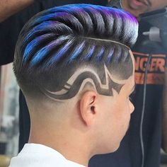 Men's Hair, Hair Art, Turquoise Highlights, Bright Hair Colors, High And Tight, Undercut Pompadour, Disconnected Undercut, Mens Hair Trends, High Fade