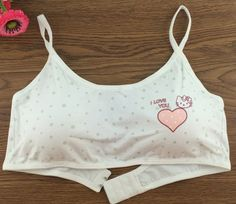 School girls bra Maiden bra No rims KT underwear Small yards all cotton Lovely models lingerie