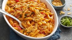 This Tex-Mex twist on macaroni and cheese is packed full of fajita flavor and plenty of cheese.