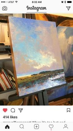 Landscape Paintings and photographs : This painting is so Sky Painting, Painting & Drawing, Landscape Art, Landscape Paintings, Landscapes, Instalation Art, Paintings I Love, Diy Canvas Art, Claude Monet