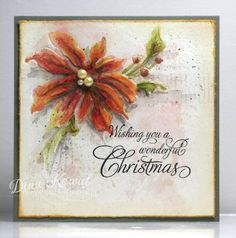 MIX84 - Watercolor Poinsettia by dini - Cards and Paper Crafts at Splitcoaststampers