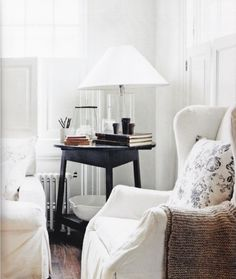 Beautiful Wing Chair, Throw and Pillow
