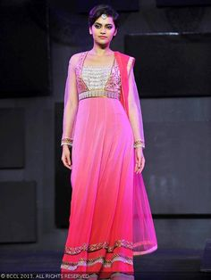 JJ Valaya anarkali for Blenders Pride Fashion Tour 2013.