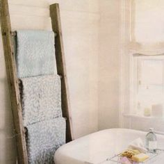 Old Ladder Towel Rack