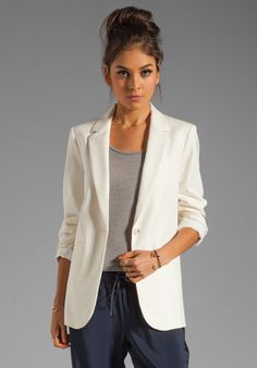 Doesn't this look comfy? Jackets can be stiff but this one has that relaxed, elegant look that's sexy.