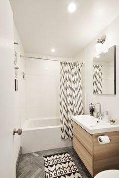 great small bathroom -- Aki & Chris's Amazing Opportunity in Brooklyn -- apartment therapy