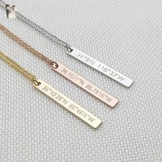 Custom Coordinates Necklace,Graduation Gift,Latitude Longitude necklace,anniversary gift - Wedding nacklaces (*Amazon Partner-Link)