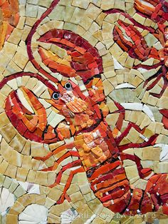 Title: The Lobster Quadrille    Artist: Doreen Adams     Amazing! you will love this Mosaic sit