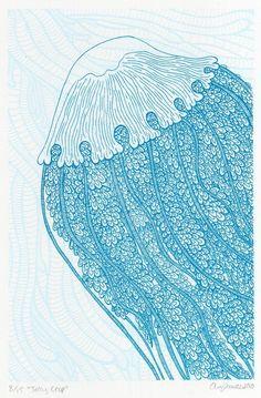 jellyfish screen print.