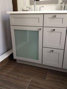 Photo Image Kraftmaid Bathroom Vanity Frosted Glass Door Inserts