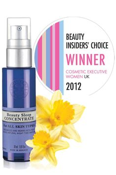 Our Beauty Sleep Concentrate just picked up Best New Organic Skincare Product at the 2012 CEW Awards!