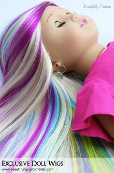 Custom OOAK American Girl Doll Wigs: Beautifully Custom Dolls