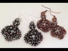 O-Earrings beginner's beading tutorial Easy earrings that can be completed in an hour.