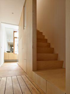 edouard brunet et françois martens architectes / transformation d'une maison mitoyenne en deux appartements, bruxelles