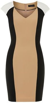 Camel and ivory sculpted dress on shopstyle.com