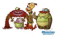best Art of Monsters inc Monsters University images on Disney Pixar, Animation Disney, Art Disney, Disney Kunst, Animation Film, Animation Studios, Disney Stuff, Monster University, Pixar Concept Art