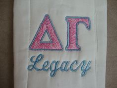 DG Legacy Burp Cloth... If I ever have babies they WILL had ASA burp clothes... As ASA onesies