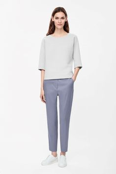 Textured silk trousers