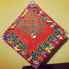 Decorated Graduation Cap - Teacher/Special Education