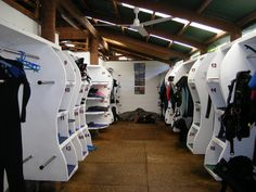 Each Guest Is Igned Their Own Gear Storage Area Located Within The Dive Center