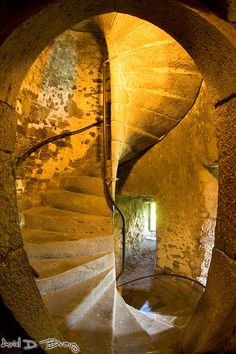 Staircase inside Blarney castle.