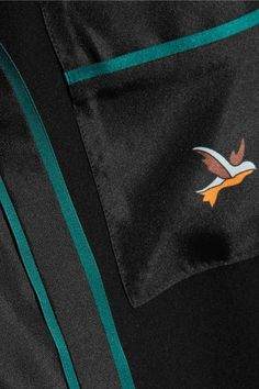 Victoria, Victoria Beckham - Printed Silk-twill Shirt - Black - UK12