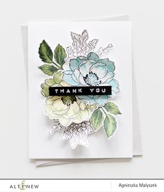 Quick and easy Thank You card                              … Beautiful Day, Clear Stamps, Stampin Up, Outline Images, Floral, Flowers, Scrapbook Cards, Fashion, Moda