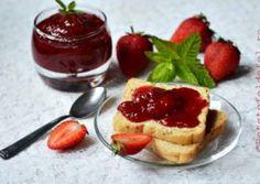 GEM DE CAPSUNE CU MENTA Panna Cotta, Cheesecake, Pudding, Ethnic Recipes, Desserts, Natural, Food, Mint, Canning
