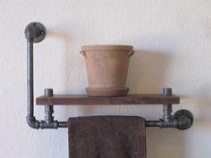 Le porte-serviettes noyer unique élevée