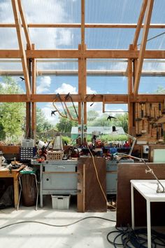 Image 9 of 27 from gallery of Schuurbain / Atelier Vens Vanbelle. Photograph by Tim Van de Velde Timber Architecture, Residential Architecture, Contemporary Architecture, Architecture Design, Pergola, Earthship, House Design, Interior Design, Building