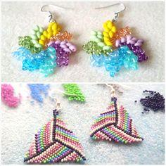 Korálkové náušnice, barevné korálky Crochet Earrings, Jewelry, Bijoux, Jewlery, Jewels, Jewelery, Jewerly, Fine Jewelry, Jewel