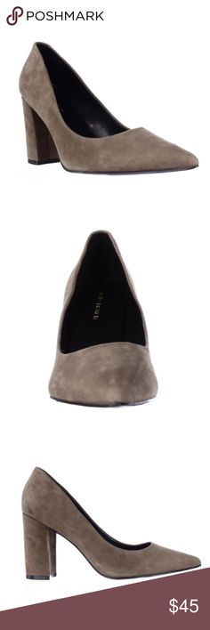 Marc Fisher Pointe Toe Khaki Green Suede Suede upper. Approximately 3.5 inches height. Brand new with box. Marc Fisher Shoes Heels