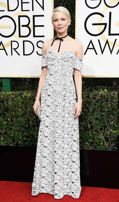 Michelle Williams on the red carpet at 2017's Golden Globes.