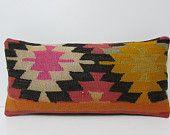 orange wool pillow cover pink floor pillow orange designer cushion pink throw pillow sofa orange floor throw pillow kilim pillow sham 17952