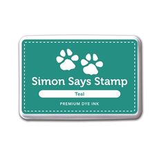 Simon Says Stamp Premium Dye Ink Pad TEAL INK034 Cold Hands Warm Heart
