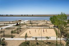designed by topiaris landscape architecture, the 'tagus linear park' provides riverfront access and recreational spaces for póvoa de santa iria, portugal. Traditional Landscape, Contemporary Landscape, Urban Landscape, Landscape Design, Parque Linear, Barceloneta Beach, Linear Park, Sport Park, Park Pictures