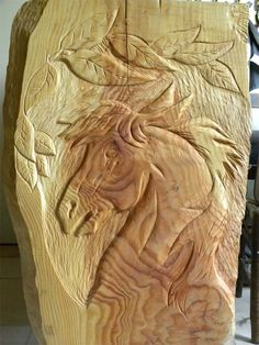 Wood Carving Head Boards Horses | Horse carving