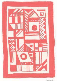 BAUHAUS ARCHIVE Designer: Gertrud Preiswerk (German (born Swiss), Basel 1902–1994) Classification: Drawings Credit Line: Gift of Jack Lenor Larsen Incorporated, 1985 Accession Number: 1985.198.56