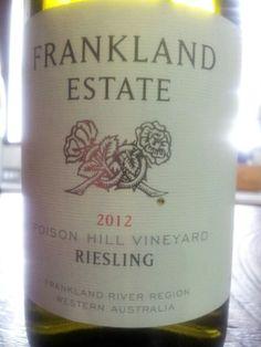 #FranklandEstate Poison Hill #Riesling 2012  (#RNAWA13)