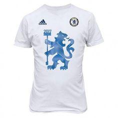 Adidas Chelsea 2017 Premier League Champions T-Shirt - White ee36b1b9b6086
