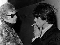 Andrew Loog Oldham and Keith Richards. I used to go his flat and collect Mariannes mail from Chrissie Shrimpton whom was Andrew;s secretary. Loong story