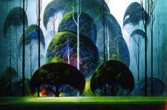 Eyvind Earle, so glad I had the opportunity to frame some of these a few years ago! I love his work!!