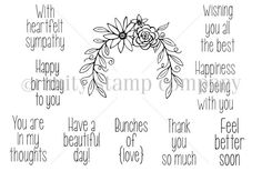 Bunches of Love Unity stamp co 2014 Sentiment kit by Lisa Arana
