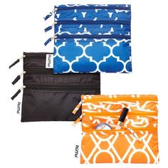 Our Baggie All Zippered Pouch features separate compartments so you can stay organized while on the go. Use it to hold everything from makeup and accessories to school supplies or diaper bag essentials. Since it's food-safe, it can even tote dry snacks!