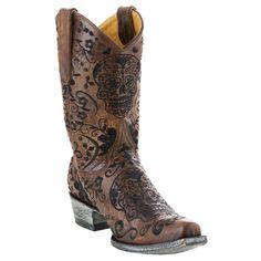"Old Gringo Ladies ""Klak"" 10"" Boots - Brass/Black"