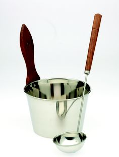 Stainless Steel bucket with ladle