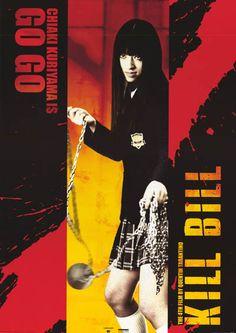 Kill Bill Go Go Chiaki Kuriyama 2003 Movie Poster 24x34