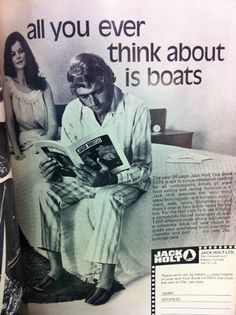 Does the perusal of marine catalogues adversely affect a sailor's libido? An unlikely theory....