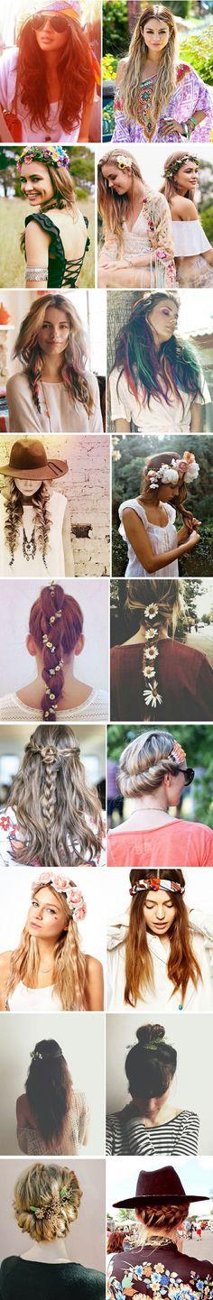 Bohemian hairstyles , boho hairstyles